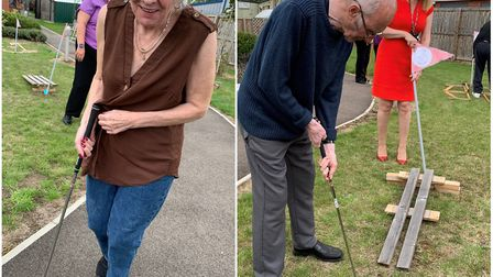 Sporting challenges showcase residents skills Olympics style at St Neots care home. Picture: NELSON
