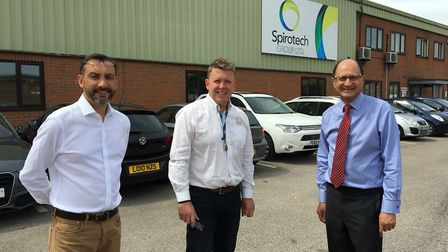 Shailesh Vara MP along with Cllr Simon Bywater visited Spirotech Group Ltd in Sawtry PICTURE: Shaile