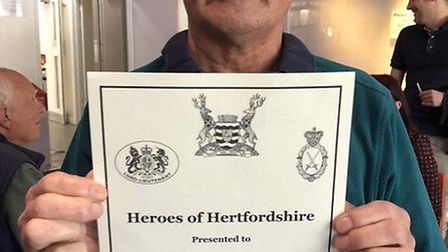 Company of Ten's Heroes of Hertfordshire award. Picture: Company of Ten .