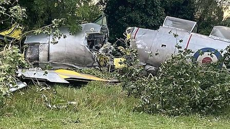 A Hawker Sea Fury from the Imperial War Museum Duxford had to make a false landing in Harston. Pictu