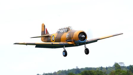 A Harvard flying at the IWM Duxford showcase day on Tuesday, August 4. Picture: Gerry Weatherhead
