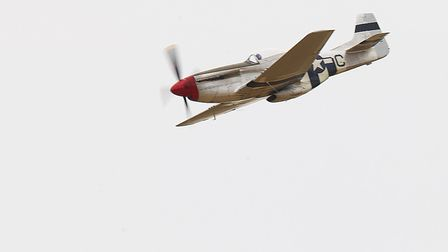 A P-51 Mustang flying at the IWM Duxford showcase day on Tuesday, August 4. Picture: Gerry Weatherhe