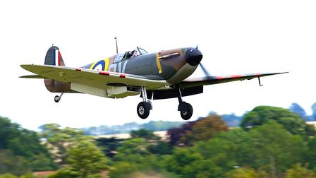 A Spitfire Mk1 flying at the IWM Duxford showcase day on Tuesday, August 4. Picture: Gerry Weatherhe