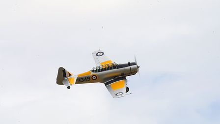 A North American Yale flying at the IWM Duxford showcase day on Tuesday, August 4. Picture: Gerry We