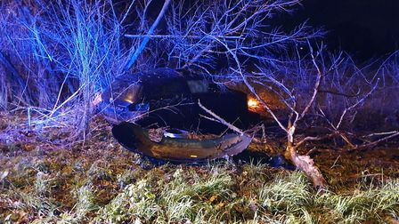 Caleb Hearn crashed his car on the way home from a Christmas Party PICTURE: Cambridgeshire P