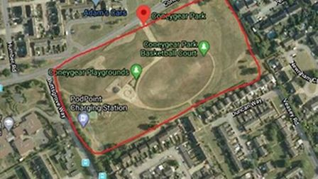 A dispersal order has been put in place for Coneygear Park in Huntingdon.