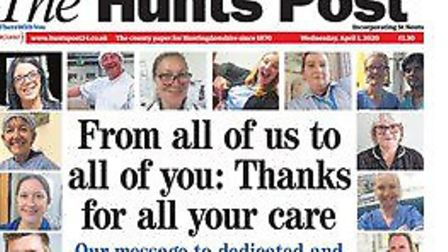 The Hunts Post supported NHS staff and care workers during the coronavirus pandemic.