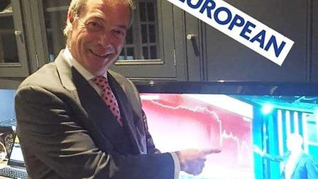 Nigel Farage was beaming after the referendum result when the pound started plummeting. Photograph: