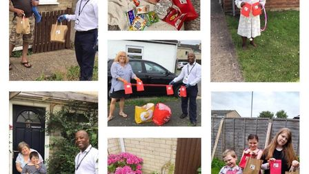 Over 90 children received a treat bag and were provided 40 packed lunches which will continue on a w