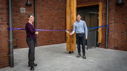 The ribbon was cut, marking the end of phase one of the redevelopment of the St Albans campus. Pictu