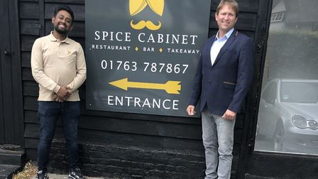 Abdul Mojid and Richard Newman run the Spice Cabinet in Reed. Picture: Courtesy of Richard Newman