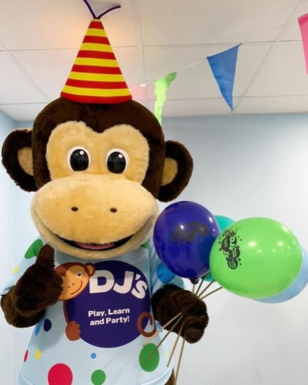 DJ's mascot will be supporting Helen at the gathering of soft play centre owners in Westminster tomo