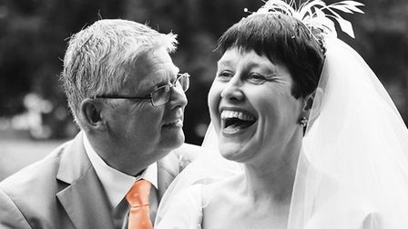 Vikki and Ian on their wedding day. Picture: Alexandra Ridley