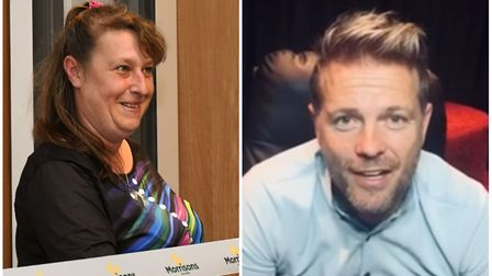 Surprise thank you for St Ives community worker Michelle Laing with help from Westlife's Nicky Byrne