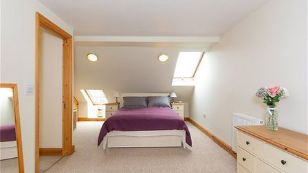 There is a spacious master bedroom with en suite on the second floor. Picture: Collinson Hall