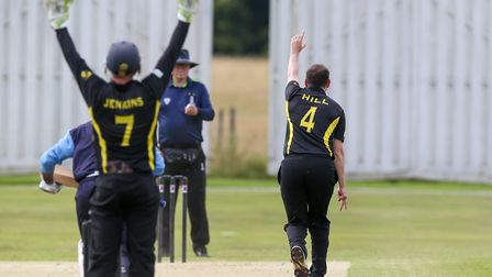 Anthony Hill appeals for the wicket of North Mymms' Stefaan Fernando in the league match between Nor