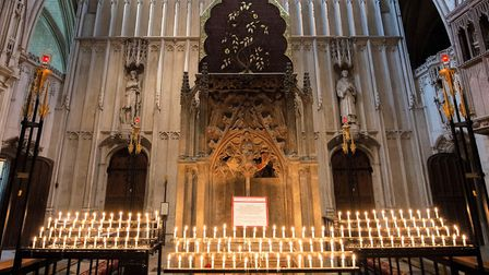 The shrine in St Albans Cathedral. Picture: Arun Kataria