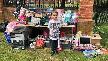 The money was raised from a fundraising stall which Charlotte and Teddy set up outside their house i