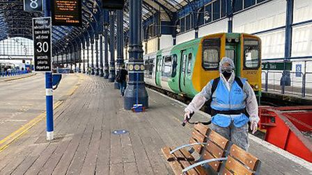 St Albans station is one of the stations to have received a special clean. Picture: Supplied