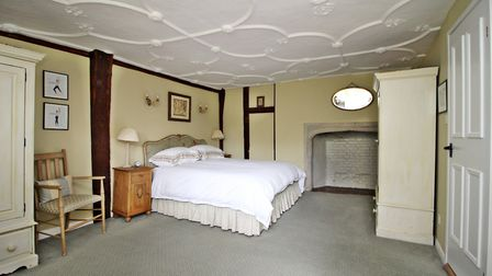 One of the property's six bedrooms. Picture: Druce