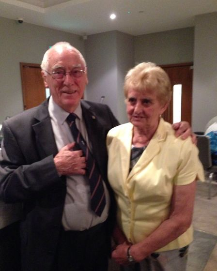 Ken Charles, pictured with wife Di, has passed away aged 87. Picture: Courtesy of Di Charles