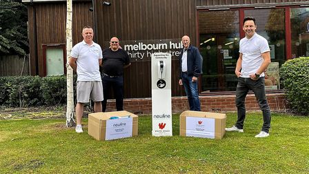 The Melbourn Community Hub is set to reopen on Monday. From left to right: Steve Coburn, director of
