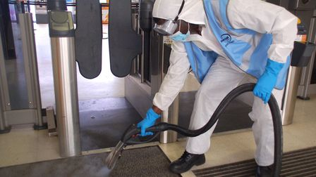 Govia Thameslink carried out a Covid-19 deep clean at St Neots and Huntingdon railway stations.