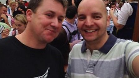 Bevan Clark (left) and best friend Steve Russell (right).
