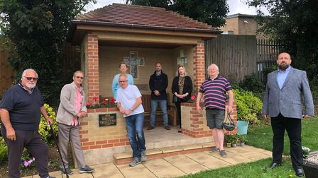 Bob Wicks with Ste Greenall St Neots Town Councillors for the Eatons. PICTURE: Stephen Fe