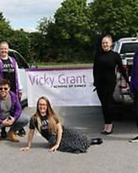 Pupils from the Vicky Grant school of dance came to say goodbye.