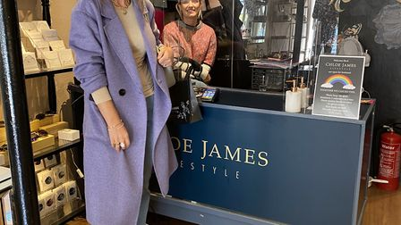 A perspex screen in place at Chloe James Lifestyle.