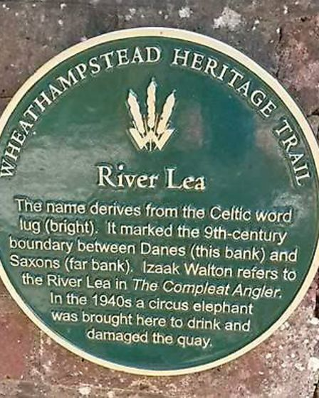 If plans for the Heritage Trail go through, plaques similar to this one in Wheathampstead will be pl