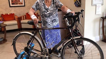 Wish comes true for keen cyclist Jean, 85, at Huntingdon care home. Picture: HOME