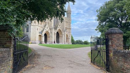 St Albans Cathedral is just across the road. Picture: Bradford & Howley