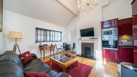 Some of the apartments boast vaulted ceilings and feature fireplaces. Picture: Bradford & Howley