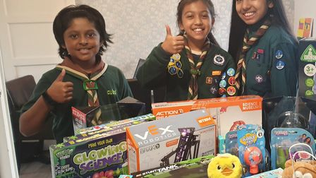 St Albans scouts complete virtual pilgrimage to buy presents for children in care. Picture: Monir Al