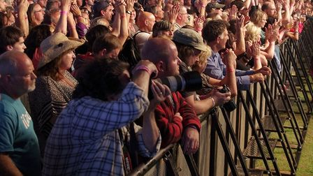 Fans at the Cambridge Rock Festival. Picture: supplied by CRF.