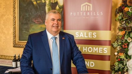 Mark Shearing at Putterills' annual property conference for developers at Brocket Hall in December 2