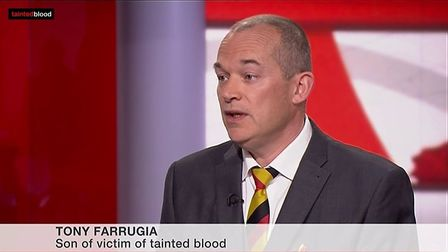 Tony Farrugia gave evidence at the Infected Blood inquiry.