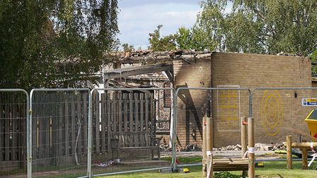 The fire damaged a roof at Duxford Community Primary School. Picture: Gerry Weatherhead