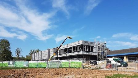 Construction work is underway on the new Harpenden leisure and cultural centres.