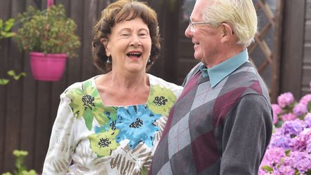 Jean and Graham King celebrate their diamond wedding anniversary. Picture: Sonya Duncan