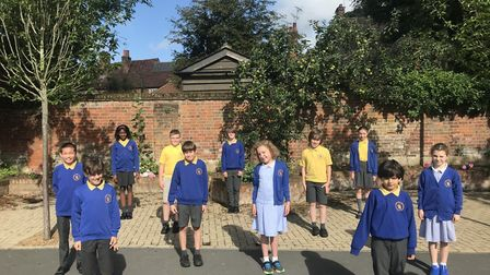Alban City School Year 6 leavers. Picture: Sarah Bland