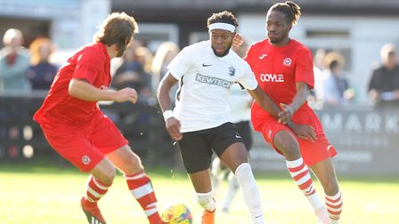 Claudio Ofosu in action for Royston Town. Picture: KARYN HADDON