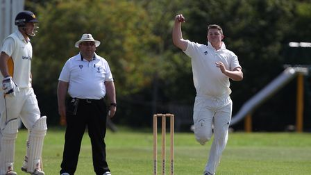 Jack Tidey took five wickets for Reed against Potters Bar. Picture: HARRY HUBBARD