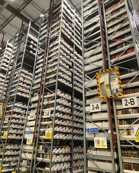 University of Cambridge Library Storage Facility. Picture: supplied by Open Cambridge