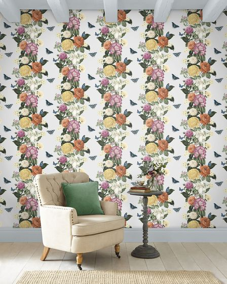 1. Bloomsbury Clancy Grey Wallpaper, £60 per roll, Graham & Brown. Picture: PA Photo/Graham and Brow