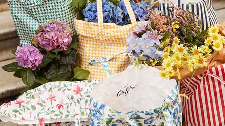 2. The Shopper in Morning Glory (centre) and Fuschia (left), £18, Cath Kidston. Other shoppers from
