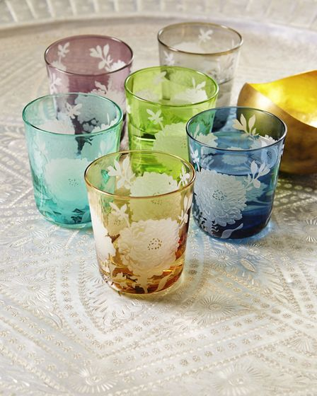 8. Set of Six Peony Glasses, £89, Graham & Green. Picture: PA Photo/Graham and Green