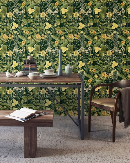 9. Mimulus Anthracite Wallpaper, £175 for three rolls, Mind The Gap. Picture: PA Photo/Mind The Gap